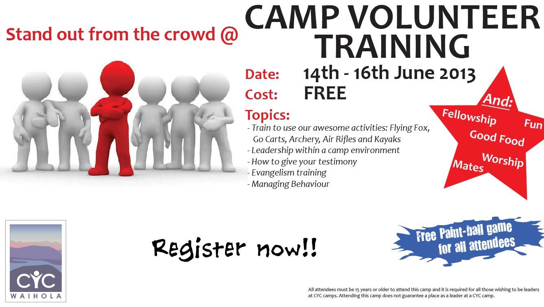 2013 Camp Volunteer Training