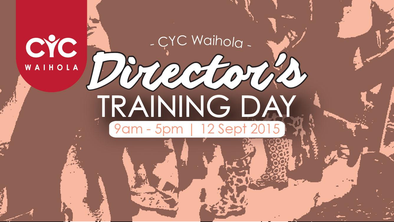 2015 Director's Training