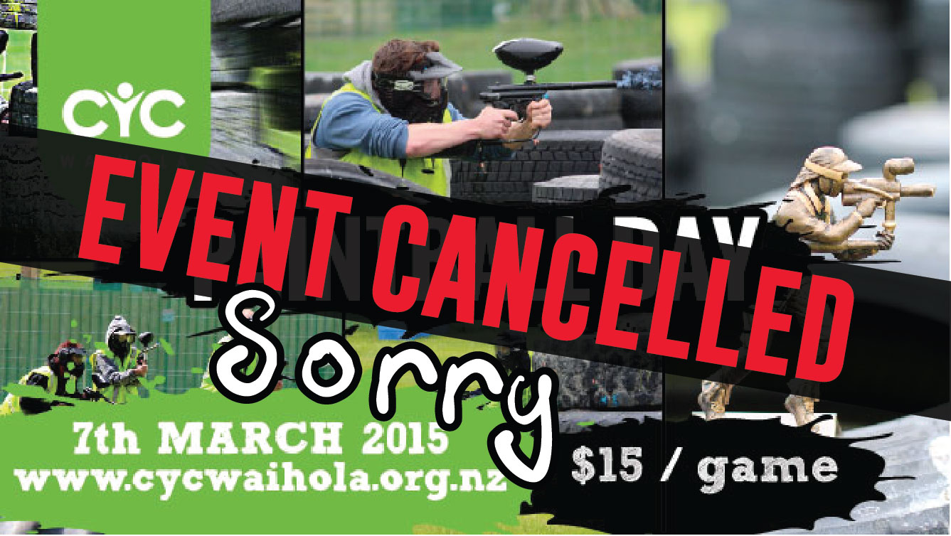 CANCELLED – March Paintball Day 2015