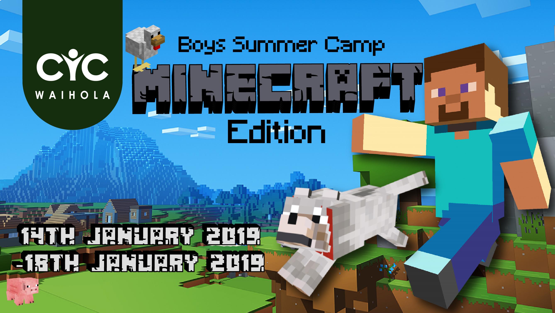 2019 Boys Summer Camp: MINECRAFT edition